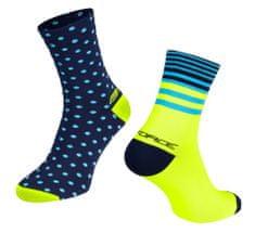 Force Cyklistické ponožky Spot - modro-fluo žluté
