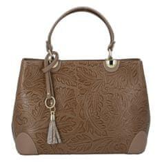 Delami Vera Pelle Luxusná dámska kožená kabelka Mira, zemitá