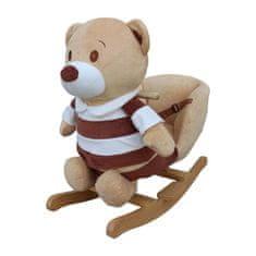 PLAYTO Hojdacia hračka s melódiou PlayTo medvedík pruhovaný Hnedá