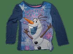 Disney Dívčí modré tričko s dlouhým rukávem a Olafem.