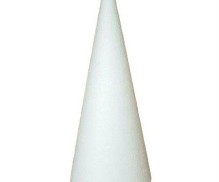 Kraftika Styropian stożka 27cm, dostaw sztuki, rzemiosła, sztuki