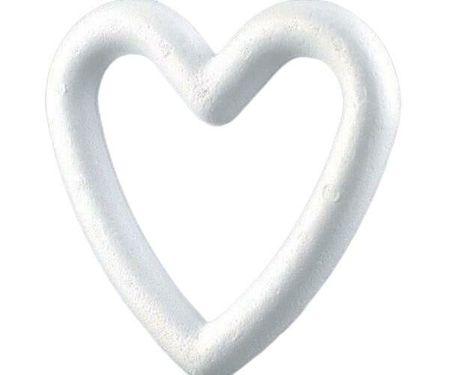 Kraftika Polisztirol szív (1db), művészeti kellékek, kézműves