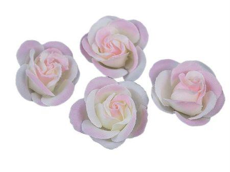 Kraftika 4pc halvány rózsaszín mesterséges rózsa virág ø35mm
