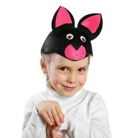 """Kraftika Karneváli kalap """"fekete macska"""", gumi, r. 52-54"""