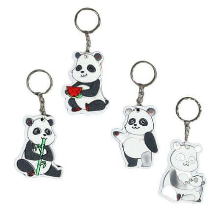 "Kraftika 12 pcs, eva pęku kluczy ""panda"" mix 6h4,6 cm"