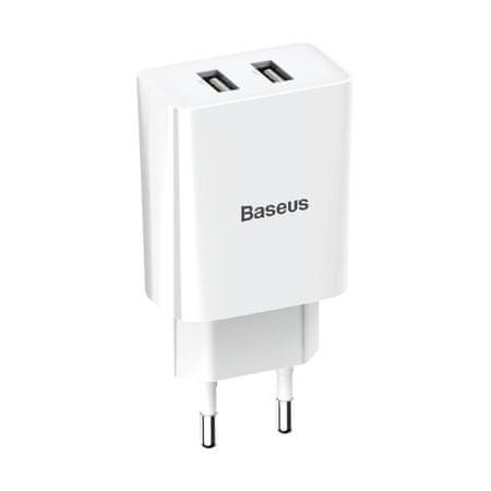 BASEUS Wall töltő 2x USB 2.1A, fehér