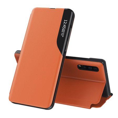 MG Eco Leather View könyvtok Xiaomi Poco M3, narancssárga