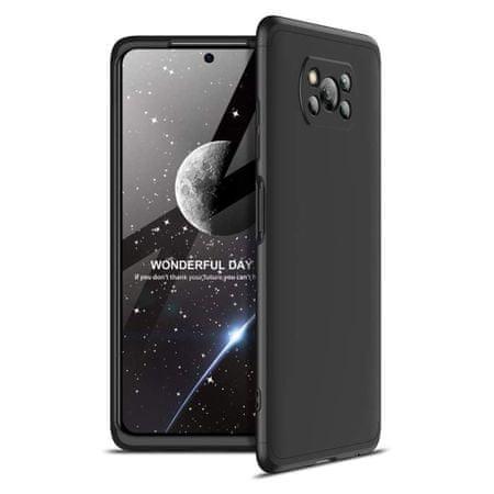 GKK 360 Full Body műanyag tok Xiaomi Poco X3 NFC, fekete