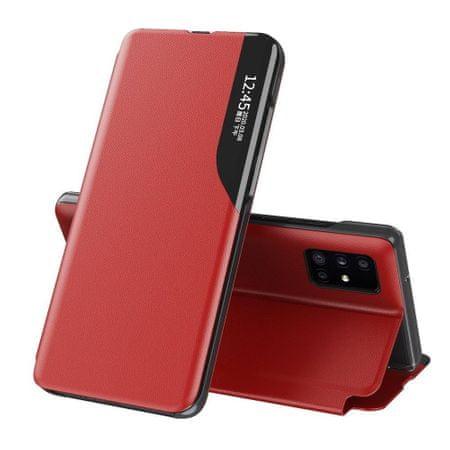 MG Eco Leather View könyv tok Samsung Galaxy S20 Ultra, piros