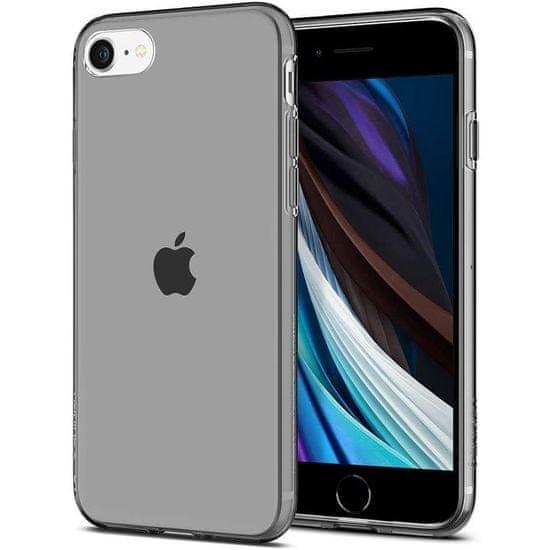 Spigen Liquid Crystal silikónový kryt na iPhone 7/8/SE 2020, priesvitný/čierny