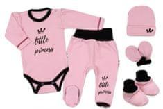 Baby Nellys 5-ti dílná soupravička do porodnice Little Princess - růžová
