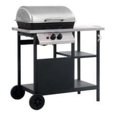 shumee fekete és ezüst gáz grillező 3 szintes kisasztallal