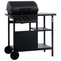 shumee fekete gáz grillező 3 szintes kisasztallal