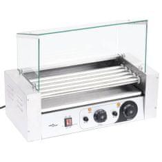 shumee 5 hengeres hot dog virslisütő gép üvegfedéllel 1000 W