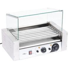shumee 7 hengeres hot dog virslisütő gép üvegfedéllel 1400 W