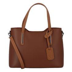 Delami Vera Pelle Elegantná kožená dámska kabelka do ruky Hilary