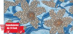 CronaPlast PVC 3D obklad - Kamenne kvety modré