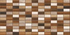 CronaPlast PVC 3D obklad - Drevo tmavé obkladačky 36x84