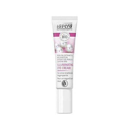 Lavera Gyöngy kivonat & Bio koffein bőrvilágosító hatású szemkörnyékápoló (Illuminating Eye Cream) 15 ml