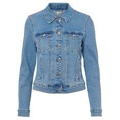 Vero Moda Dámská džínová bunda VMHOT SOYA 10193085 Light Blue Denim
