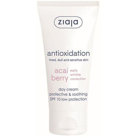 Ziaja Pomirjujoča dnevna krema SPF 10 Acai Berry ( Protective & Soothing Day Cream) 50 ml