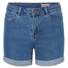 Vero Moda Női rövidnadrág Short Hot Seven Dnm Short a Noos közepes Blue Denim keverékével