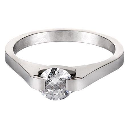 Troli Acél gyűrű kristállyal KRS-088 (Kerület 54 mm)