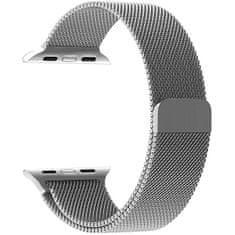 4wrist Ocelový milánský tah pro Apple Watch - Stříbrný 38/40 mm