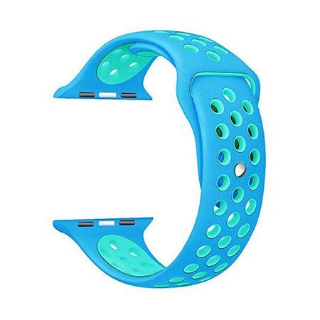 4wrist Szilikon szíj Apple Watch - Kék/Türkiz 38/40 mm