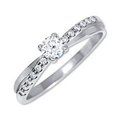 Brilio Silver Stříbrný zásnubní prsten 426 001 00541 04 stříbro 925/1000