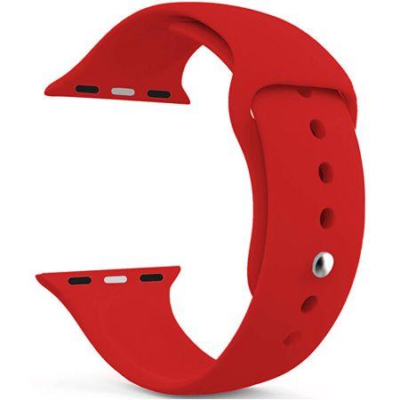 4wrist Szilikon szíj Apple Watch - Piros 42/44 mm - S/M