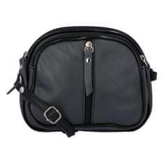 Delami Dámska kožená crossbody kabelka Elma, sivo čierna