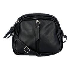 Delami Dámska kožená crossbody kabelka Elma, čierna