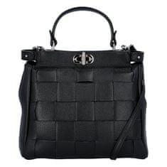 Delami Dámska kožená kabelka Monroe, čierna