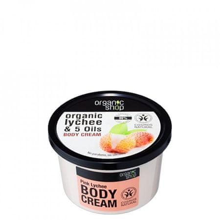 Organic Shop Tělo above Pink Lychee Cream ( Body )Cream ( Body ) 250 ml