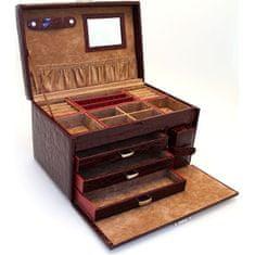 Jan KOS Bordowe pudełko na biżuterię SP-581 / A10