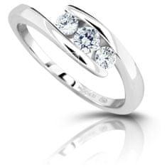 Modesi Stříbrný prsten se zirkony M13075 stříbro 925/1000