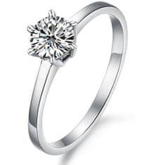 Troli Ocelový prsten s krystalem KRS-126