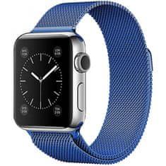 4wrist Ocelový milánský tah pro Apple Watch - Modrý 42/44 mm