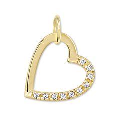 Brilio Zlatý přívěsek srdce s krystaly 249 001 00494
