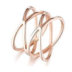 Troli Romantični bronasti prstan iz jekla KRS-275