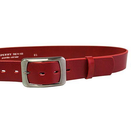 Penny Belts Ženski usnjeni pas 16293 Rdeča (Dolžina traku 85 cm)
