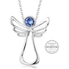 Levien Náhrdelník s modrým krystalem Guardian Angel