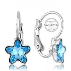 Levien Dívčí náušnice s tyrkysovým krystalem STARBLOOM