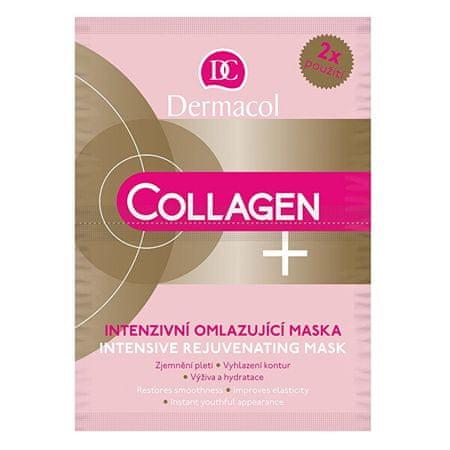 Dermacol Intensywne odmładzająca maski Collagen plus (Intensive Rejuvenating Face Mask) 2 x 8 g
