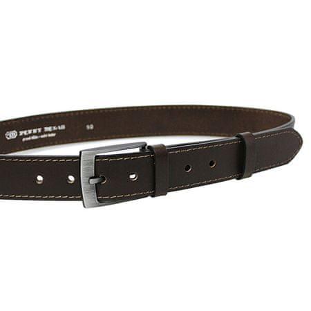 Penny Belts Moški usnjeni pas 35-1-40 Temno rjave barve (Dolžina traku 105 cm)
