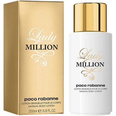 Paco Rabanne Lady Million - tělové mléko 200 ml