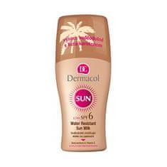 Dermacol Vodeodolné zvláčňujúce mlieko na opaľovanie v spreji SPF 6 Sun (Water Resistant Sun Milk) 200 ml