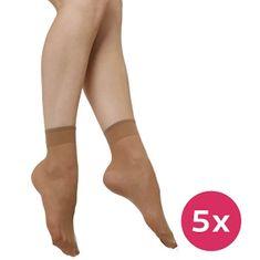 Evona 5 PACK - dámské ponožky Napolo 1004 tělové