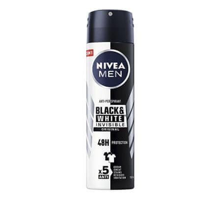 Nivea Antyperspirant w sprayu dla mężczyzn niewidzialnym dla Black & White Power 150 ml
